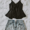 black keyhole top_outfit jeans