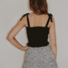 black smocked tube top w: ties #2