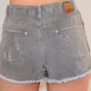 grey distressed shorts back